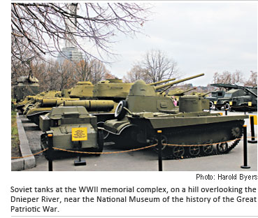 Soviet tanks at the WWII memorial complex